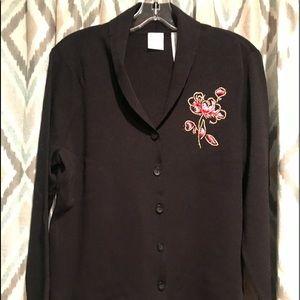 Emma James Brand New Womans Sweater Flower XL